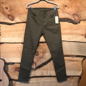 NWT Michael Kors Skinny Jeans Olive Green